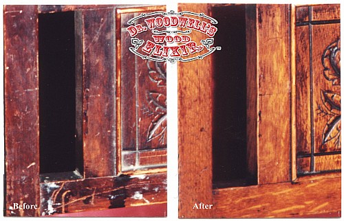 How to restore a dull finish from wood furniture - before and after photo