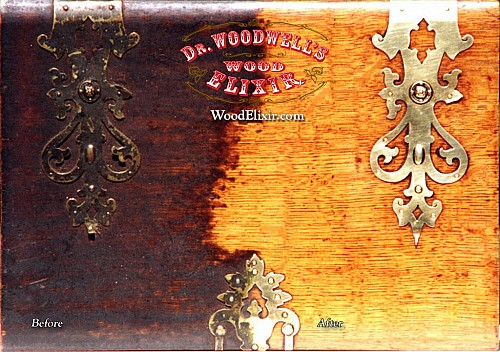 Clean finished wood surfaces with Wood Elixir