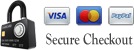 Convenient and secure checkout using VISA, MasterCard or PayPal